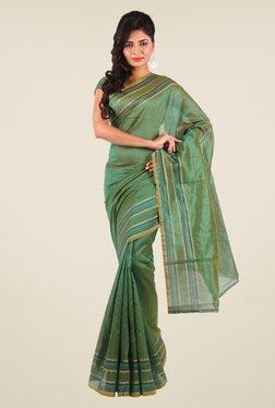 Shonaya Green Art Silk Solid Saree
