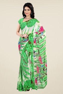 Shonaya Green Faux Georgette Printed Saree - Mp000000000394249