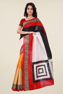 Shonaya Multicolor Bhagalpuri Silk Printed Saree