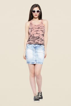 Cult Fiction Pink Printed Tank Top