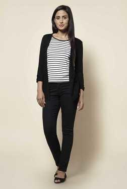Zudio Black & White Striped Top