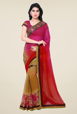 Triveni Multicolor Printed Chiffon Saree - Mp000000000399550