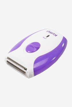Kemei Rechargeable KM-280R Shaver for Women (Purple/White)