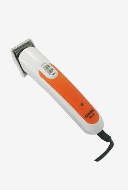 Gemei Rechargeable GM-301 Trimmer For Men (White/Orange)