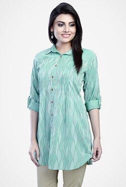Fabindia Turquoise Printed Tunic