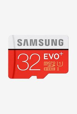 Samsung Evo Plus 32GB Class 10 MicroSDHC Memory Card (Red)