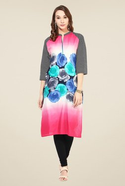 Shree Multicolor Cotton Floral Print Kurta - Mp000000000402503