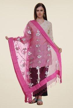 Shree Pink Polyester Dupatta