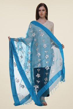 Shree Turquoise Polyester Dupatta