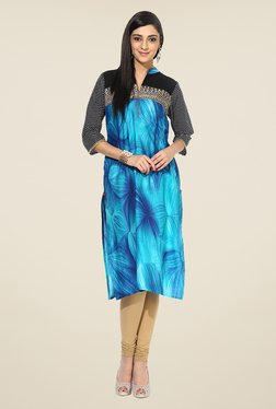 Shree Aqua Cotton Printed Kurta