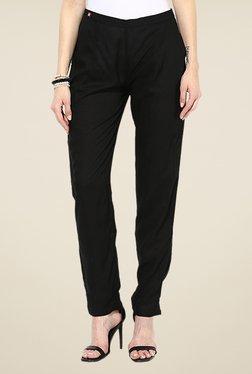 Shree Black Rayon Trousers