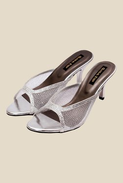 Global Step Silver Stiletto Heeled Sandals