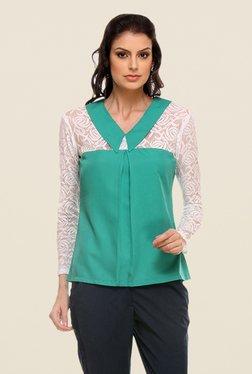 Kaaryah Turquoise Lace Shirt