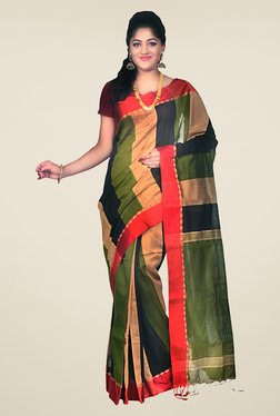 Bengal Handloom Multicolor Cotton Silk Striped Saree - Mp000000000403625