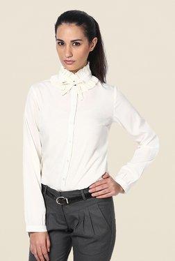 Kaaryah Off White Solid Shirt