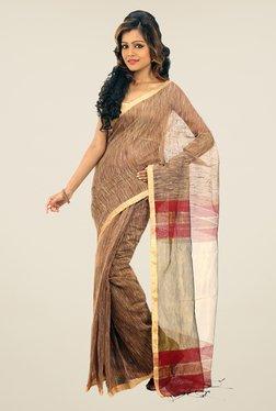 Bengal Handloom Maroon Zori & Ketia Silk Saree