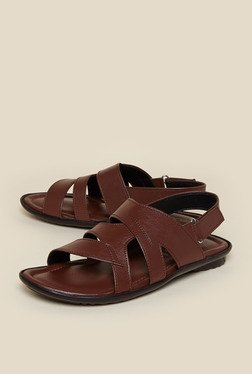 Zudio Brown Back Strap Sandals