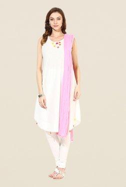 Stylenmart Light Pink Cotton Dupatta