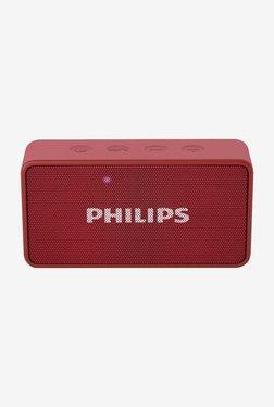 Philips BT64R/94 Wireless Portable Bluetooth Speaker (Red)