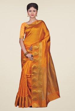 Triveni Gold Printed Art Silk Saree
