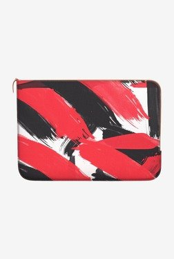 "DailyObjects Abstract Black MacBook 12"" Zippered Sleeve"