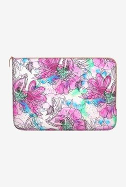 "DailyObjects Pink Floral MacBook 12"" Zippered Sleeve"