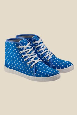 Nell Blue & White Sneakers - Mp000000000409898