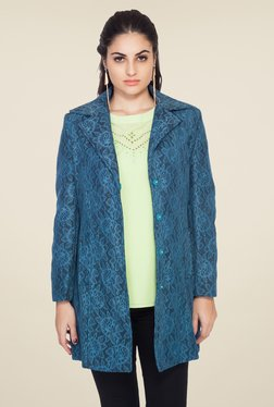 Soie Blue Lace Overcoat