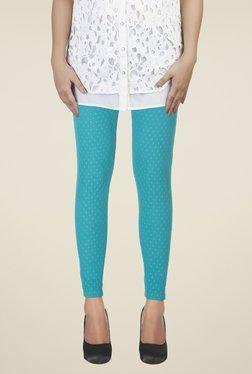 Soie Teal Self Print Leggings
