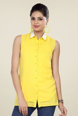 Soie Yellow Solid Shirt - Mp000000000411183