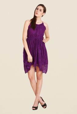 Soie Purple Lace Dress