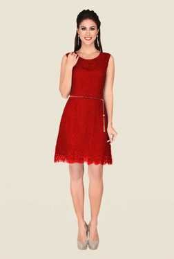 Soie Red Lace Dress