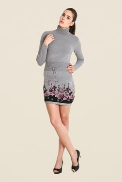 Soie Grey Printed Cardigan