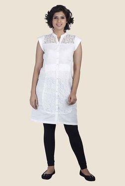 Soie White Lace Tunic