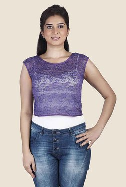 Soie Purple Lace Top