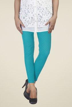 Soie Turquoise Self Print Leggings