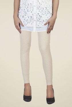 Soie Beige Self Print Leggings