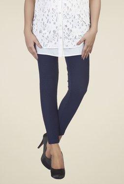 Soie Navy Self Print Leggings