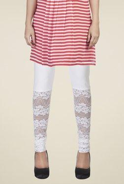 Soie White Lace Leggings