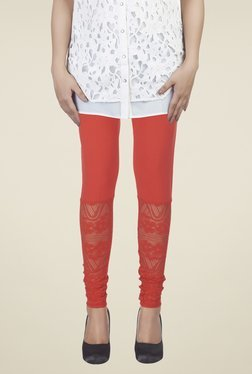 Soie Red Lace Leggings