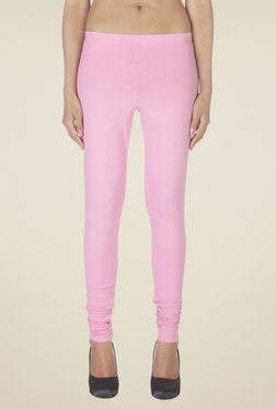 Soie Baby Pink Solid Leggings