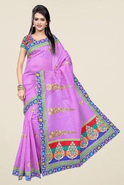 Triveni Purple Printed Blended Cotton Saree
