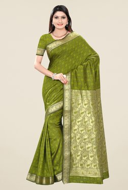 Triveni Green Paisley Print Art Silk Saree