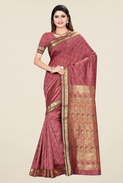 Triveni Rosewood Printed Art Silk Saree