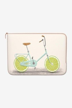 "DailyObjects Lime Wheels MacBook 12"" Zippered Sleeve"