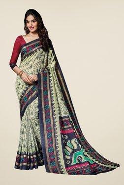 Triveni Multicolor Printed Bhagalpuri Silk Free Size Saree