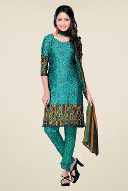 Triveni Green Printed Salwar Kameez