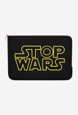 "DailyObjects Stop Wars MacBook 12"" Zippered Sleeve"