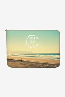 "DailyObjects Take Me To Sea MacBook Pro 15"" Zippered Sleeve"