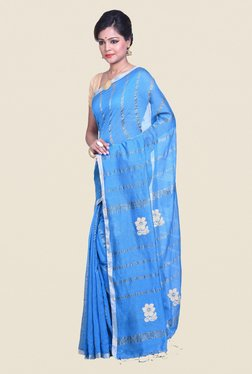 Bengal Handloom Blue Cotton Silk Saree